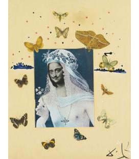 Salvador Dalí - Autoritratto a Mona Lisa. Stampa su tela