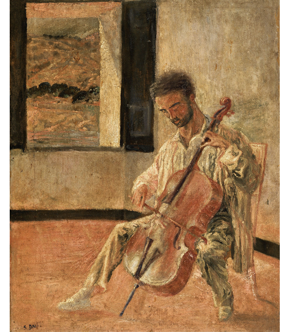 Salvador Dalì - Portrait of the Cellist Ricard Pichot