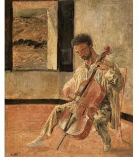 Salvador Dalì - Ritratto di Violoncellista Ricard Pichot. Stampa su tela