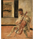 Salvador Dalì - Portrait of the Cellist Ricard Pichot. Print on canvas