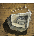 Salvador Dalì - Blooming Eyes. Print on canvas