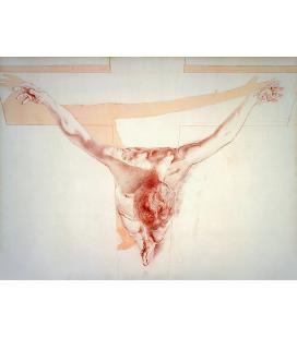 Salvador Dalì - Cristo nella prospettiva. Ascensione. Stampa su tela