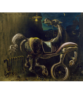 Salvador Dalì - Horse. Print on canvas