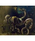Salvador Dalì - Horse. Print on canvas