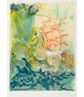 Salvador Dalì - Neptune. Print on canvas