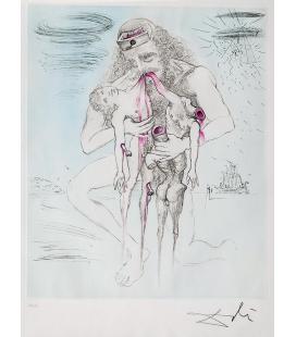 Salvador Dalì - Kronos. Stampa su tela