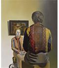 Salvador Dalì - Gala portrait. Print on canvas