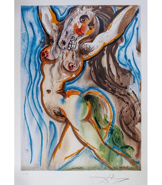 Salvador Dalì - The horse woman. Print on canvas