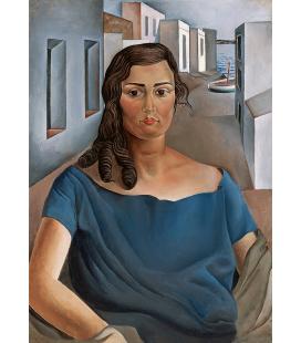 Salvador Dalì - Ritratto di mia Sorella. Stampa su tela