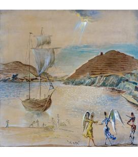 Salvador Dalì - Panorama del porto. Stampa su tela