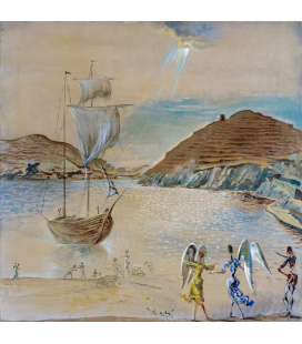 Salvador Dalì - Port landscape. Print on canvas