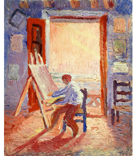 Salvador Dalì - Self-Portrait in the Studio. Print on canvas
