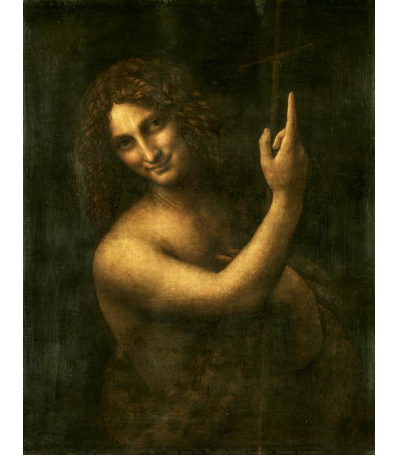 Leonardo da Vinci - San Giovanni Battista . Stampa su tela