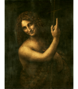 Leonardo da Vinci - Saint John the Baptist . Print on canvas
