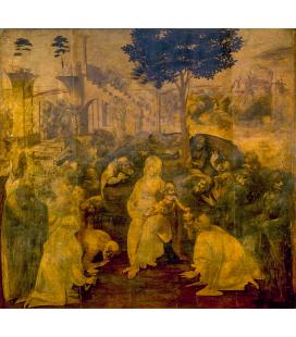 Leonardo da Vinci - Adoration of the Magi. Print on canvas