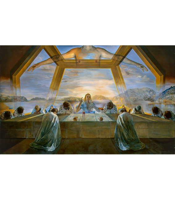 Salvador Dalì - Ultima Cena. Stampa su tela