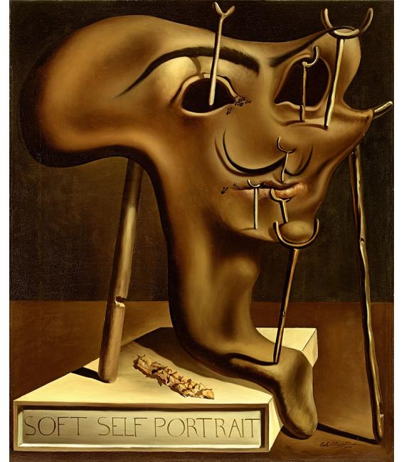 Salvador Dali - Self-portrait Soft . Print on canvas