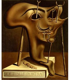 Salvador Dali - Autoritratto Soft. Stampa su tela