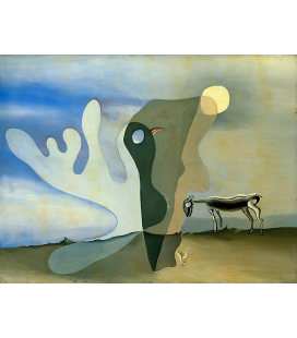 Salvador Dali - L'ariete (Mucca Spettrale). Stampa su tela