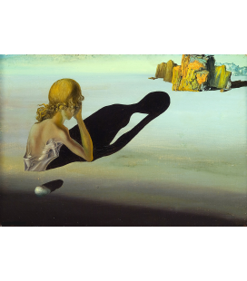 Salvador Dalì - Rimorso o sfinge incastonata nella sabbia. Stampa su tela
