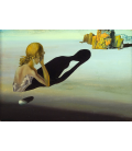 Salvador Dalì - Remorse, or Sphinx embedded in the sand. Print on canvas