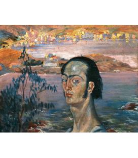 Salvador Dali - Autoritratto. Stampa su tela