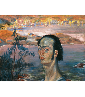 Salvador Dali - Self-portrait. Print on canvas