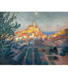 Salvador Dalì - Back view of Cadaqués. Print on canvas