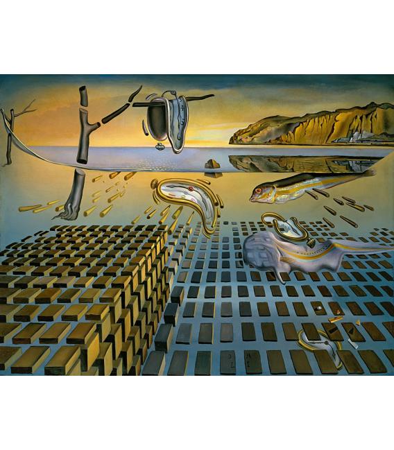 Salvador Dalì - La disintegrazione della Persistenza della Memoria . Stampa su tela