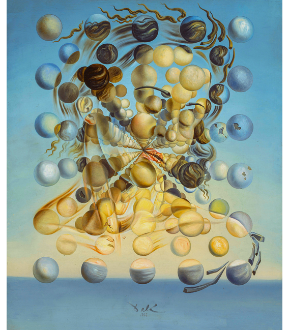 Salvador Dalì - Galatea of the Spheres . Print on canvas