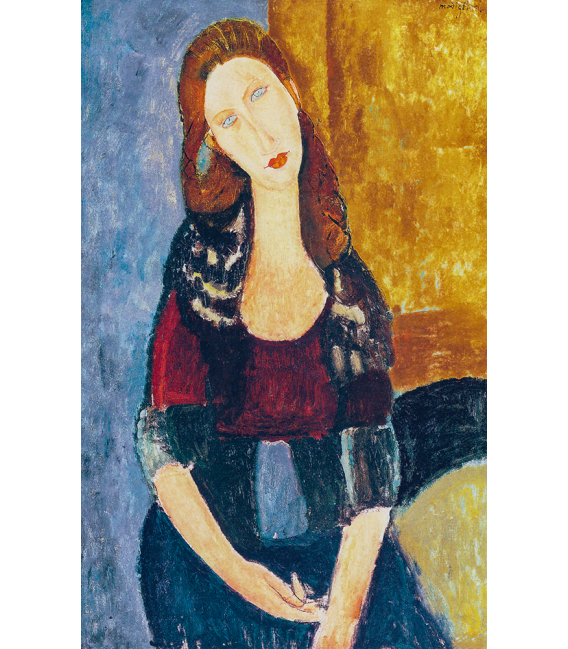 Amedeo Modigliani - Jeanne Hebuterne. Print on canvas
