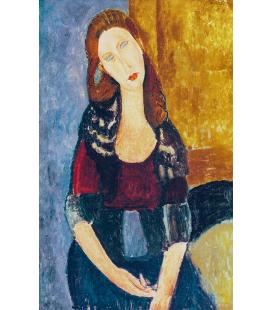 Amedeo Modigliani - Jeanne Hebuterne. Stampa su tela