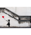 Banksy - Hope. Print on canvas
