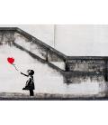 Banksy - Hope. Stampa su tela