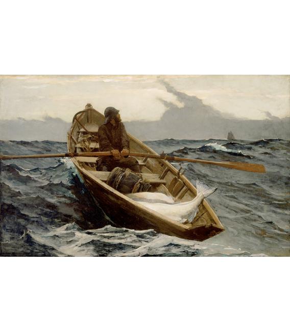 Winslow Homer. The Fog Warning. Stampa su tela