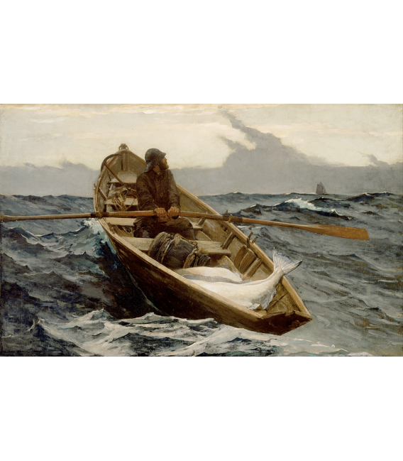 Winslow Homer. The Fog Warning. Printing on canvas