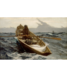 Winslow Homer. The Fog Warning. Stampa su tela