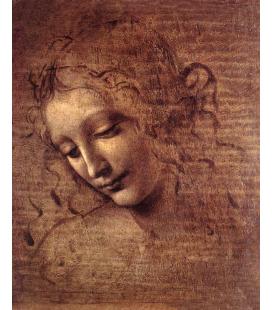 Leonardo Da Vinci. Female Head. Printing on canvas