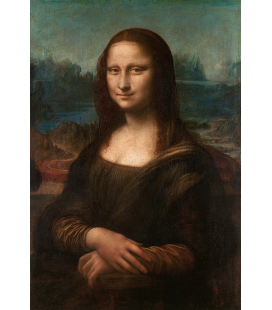 Leonardo Da Vinci. Mona Lisa La Gioconda. Printing on canvas