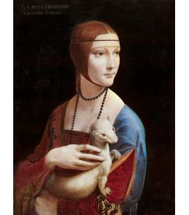 Leonardo Da Vinci. La Dama con l'ermellino. Stampa su tela