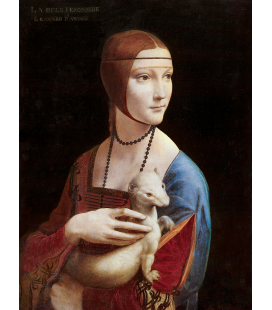 Leonardo Da Vinci. The Lady with an Ermine. Printing on canvas