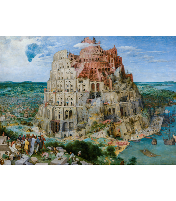 Pieter Bruegel il Vecchio - La Torre di Babele. Stampa su tela