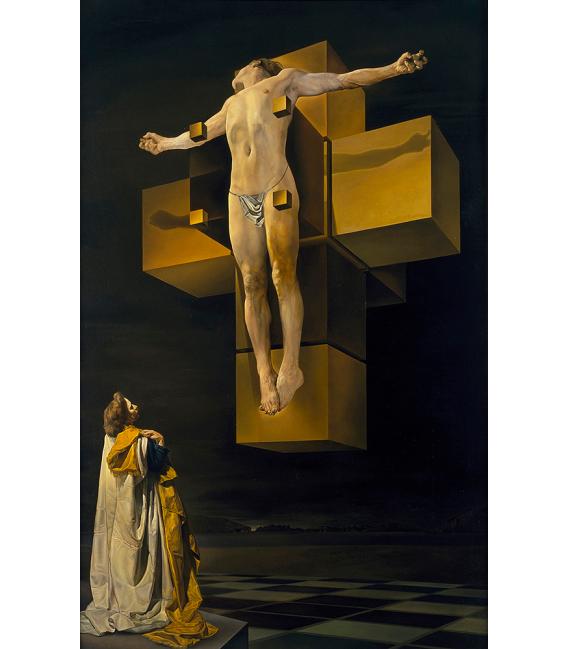Salvador Dalì - Crucifixion. Print on canvas
