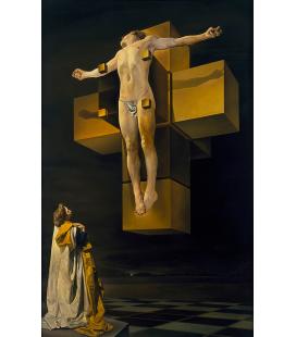 Salvador Dalì - Crocifissione. Stampa su tela