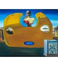 Salvador Dalì - La memoria della piccola donna. Stampa su tela