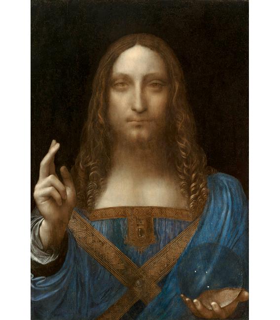 Leonardo Da Vinci. Salvador Mundi. Stampa su tela