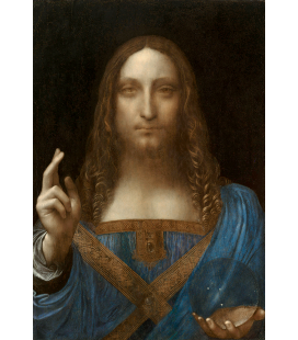 Leonardo Da Vinci. Salvador Mundi. Printing on canvas