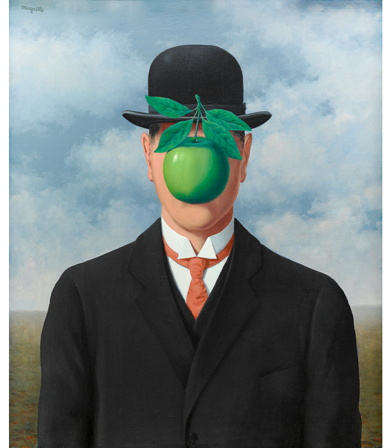 Rene Magritte - The great war. Printing on canvas