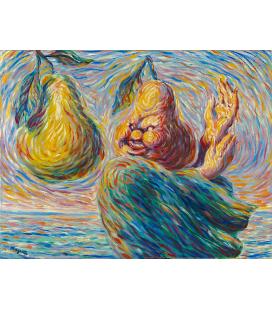 Magritte René - Lirismo. Stampa su tela