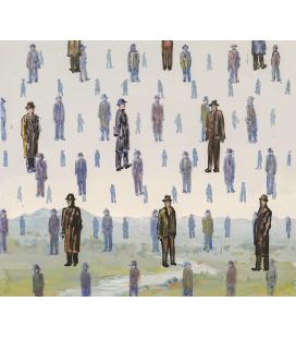 Rene Magritte - Golconda. Printing on canvas